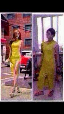 同样一件衣服,左边的穿上立马变女王,右边的像少林寺方丈 ,女人身材和气质并存,你有什么理由不改变