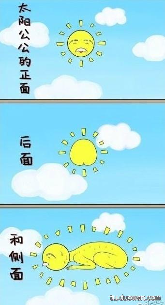太阳公公各种角度照