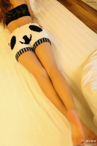 想喂熊猫吃竹子的左下角。