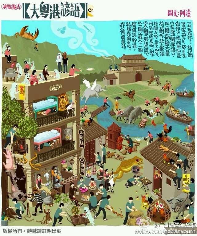 广东俗话从图找,看你懂多少