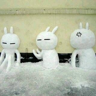 这才叫堆雪人,这才叫技术