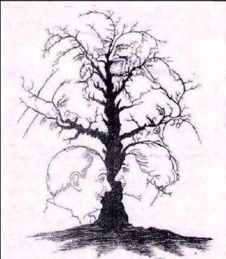 谁能看出这个树上有多少人