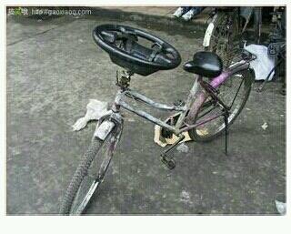 甲的自行车头坏了,小车也坏了,因为。。。所以。。。。。。。。。!