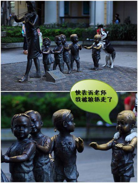 豆豆你吓坏小朋友了。。。(via北门摄影)