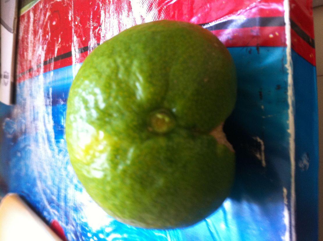 看到这个橘子后我尽然邪恶的抠掉杆子,让它看上去更邪恶