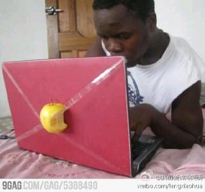 这难道是传说中的苹果笔记本吗。。。