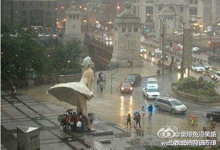 原来玛丽莲梦露的雕像还有这样的功能!!!在她面前,其他的雕像都弱爆了!