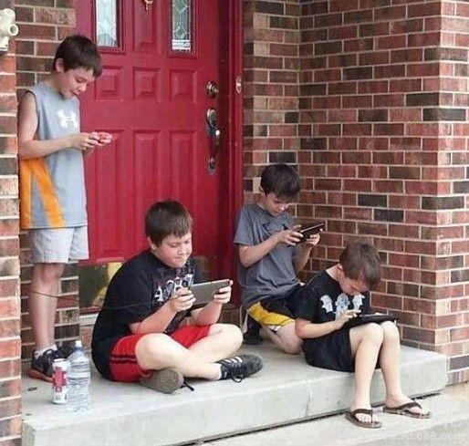 当代小孩的户外活动。。。