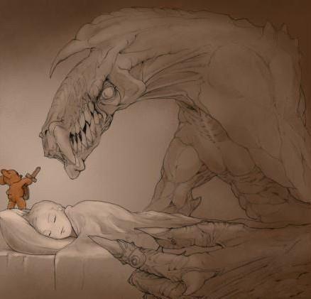 床上放一只小熊,它可以帮你驱赶梦魔。。。[转] PS:你的床上是什么?