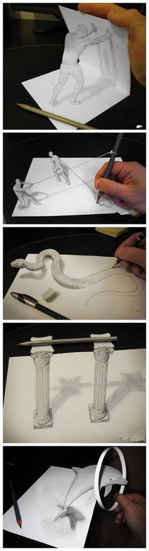 牛人的3D立体画