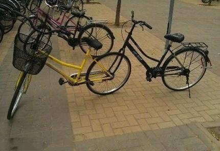 自制情侣自行车