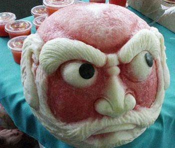 神一样的西瓜雕