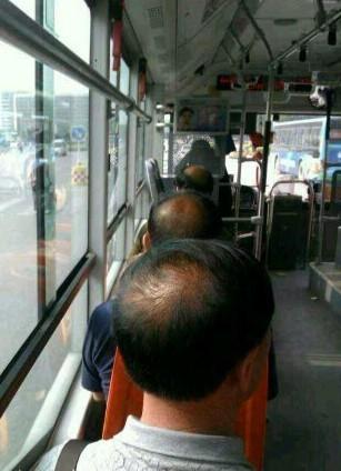 整齐划一,看到没这毛发。