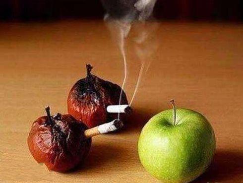 兄弟,尽量少抽烟吧!