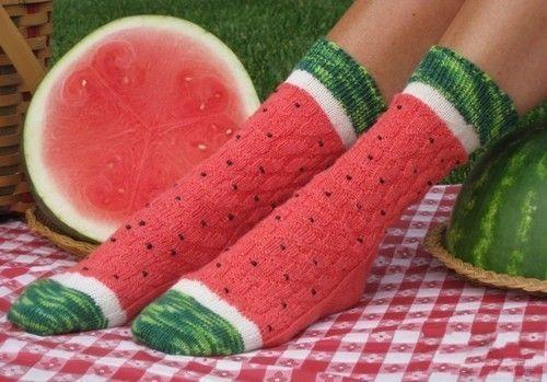 西瓜袜子,感觉再也不想吃西瓜了