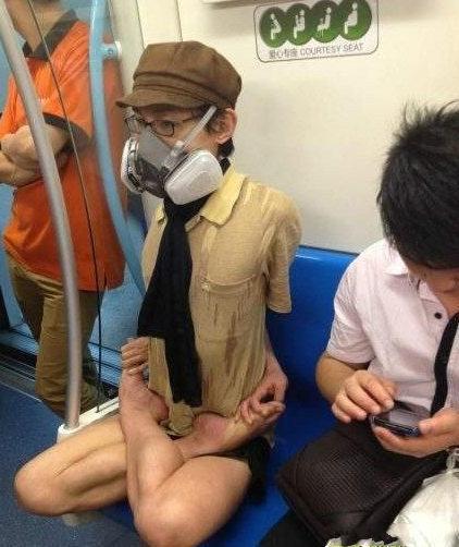地铁里的奇葩不少啊