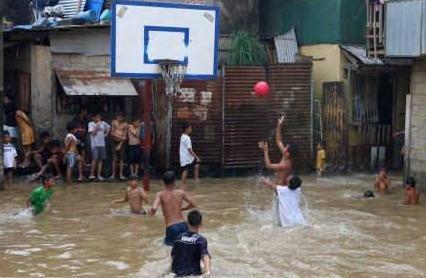洪水挡不住运动的激情