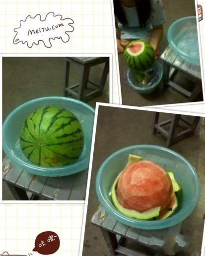舍友削西瓜跟削苹果一样