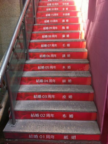 民政局的创意楼梯,终于知道7年之痒的真正原因了,结个毛婚!