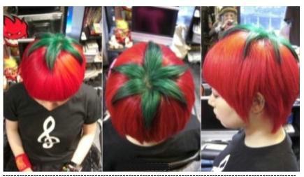 番茄头发型,在日本的90后年轻人很流行。。为啥我有种想敲扁他头的冲动。。。