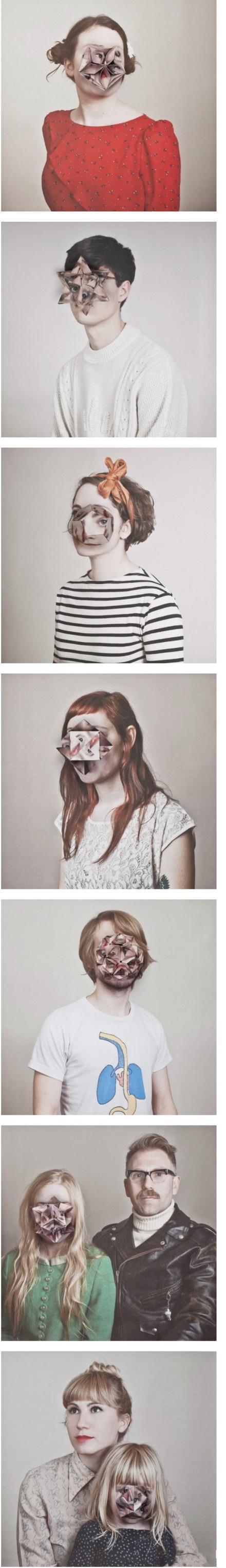 """这是英国艺术家Alma Haser创作的一系列把人脸弄出折纸效果的图片,这里除了""""好高级……""""以外就完全不知道该怎么形容了……"""