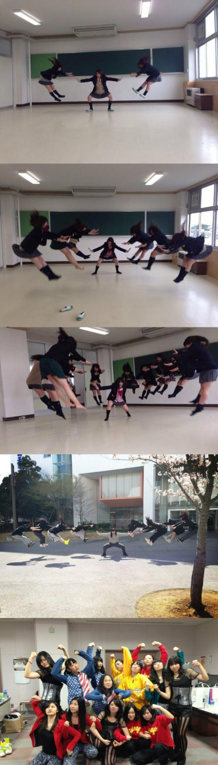 霓虹高中女生的霸气新玩法!!