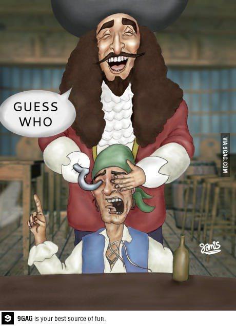 终于明白了为什么很多海盗都是一只眼睛了~