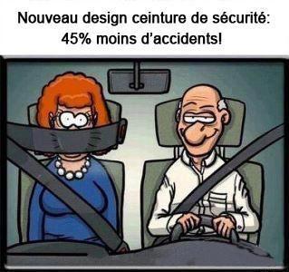 """法国人又淘气了——""""安全带全新设计,据说能让交通事故率下降45%。"""""""