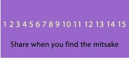 一张可以帮你发现思维定势的心理图片。你能在10秒内发现错误么?
