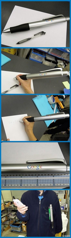 【拉风:33厘米长的谷歌圆珠笔!】近日在日本市场上,出现了一只长达33厘米左右的巨型圆珠笔,上边赫然印着谷歌的LOGO。据悉,这只笔是从海外谷歌商店弄来的,造型与普通圆珠笔无异,不过就是个头实在太大,售价980日元,约合人民币63块钱。如果带震动功能就完美了。。。