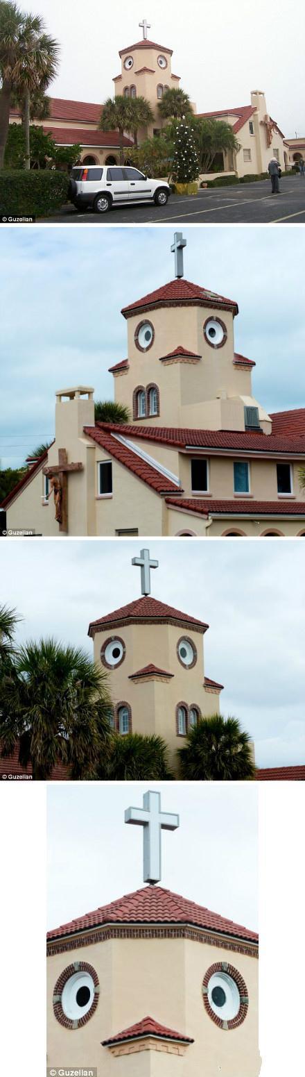 哈哈哈。。。这家教堂的主教肿么想的。造成个小鸡一样是想作甚啊啊啊啊!!