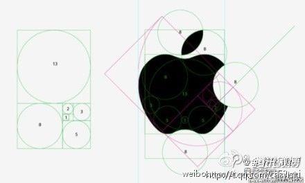 黄金分割啊,怪不得觉得苹果商标无可挑剔!