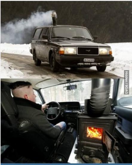 据说冬天,俄罗斯的汽车都要这样取暖。。。