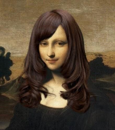 给蒙娜丽莎换个发型之后……