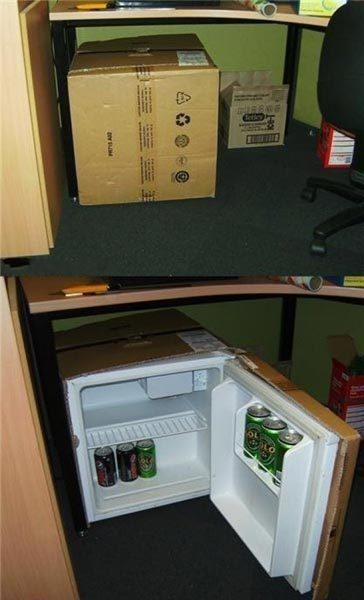 教你怎么在办公室偷偷藏一个冰箱~