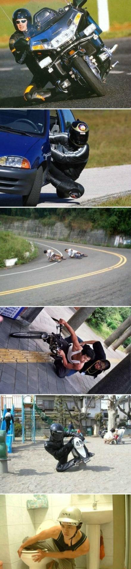 看看人家的骑车技术!!