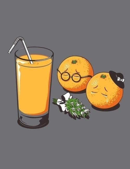 香菇走在路上,被橙子撞了一下。香菇大怒道:「没长眼啊,去死吧。」然后橙子就死了。。。因为菌让橙死,橙不得不死。。——via:@经常检查节操的jc