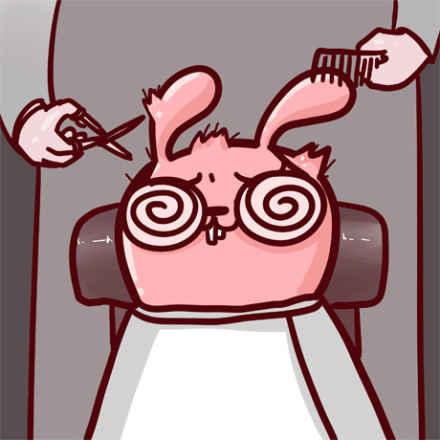 作为高度近视的我,每次理发都是一场赌博……直到剪完带上眼镜的那一刻,我知道……我又输了……