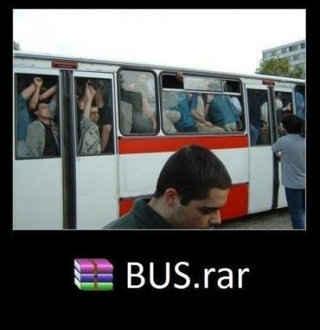公共汽车的压缩图