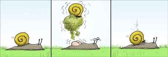 从前有一只蜗牛,然后它放了一个屁。。。。
