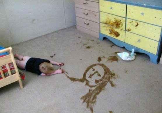 极具艺术天赋的宝宝之重口涂鸦。。。
