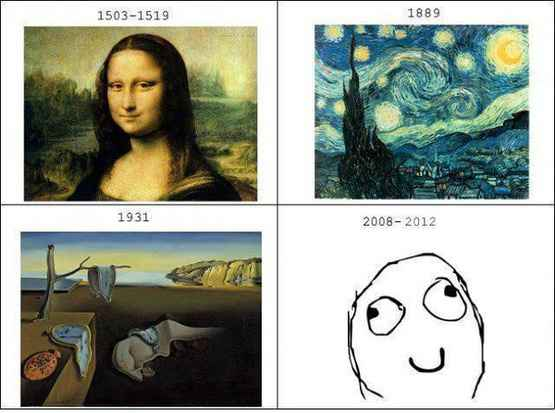艺术随着时代而变,到我们这,哈哈哈