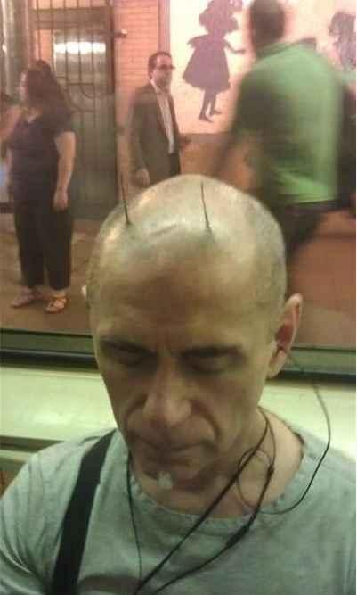 大叔你这萌系发型是要闹哪样?
