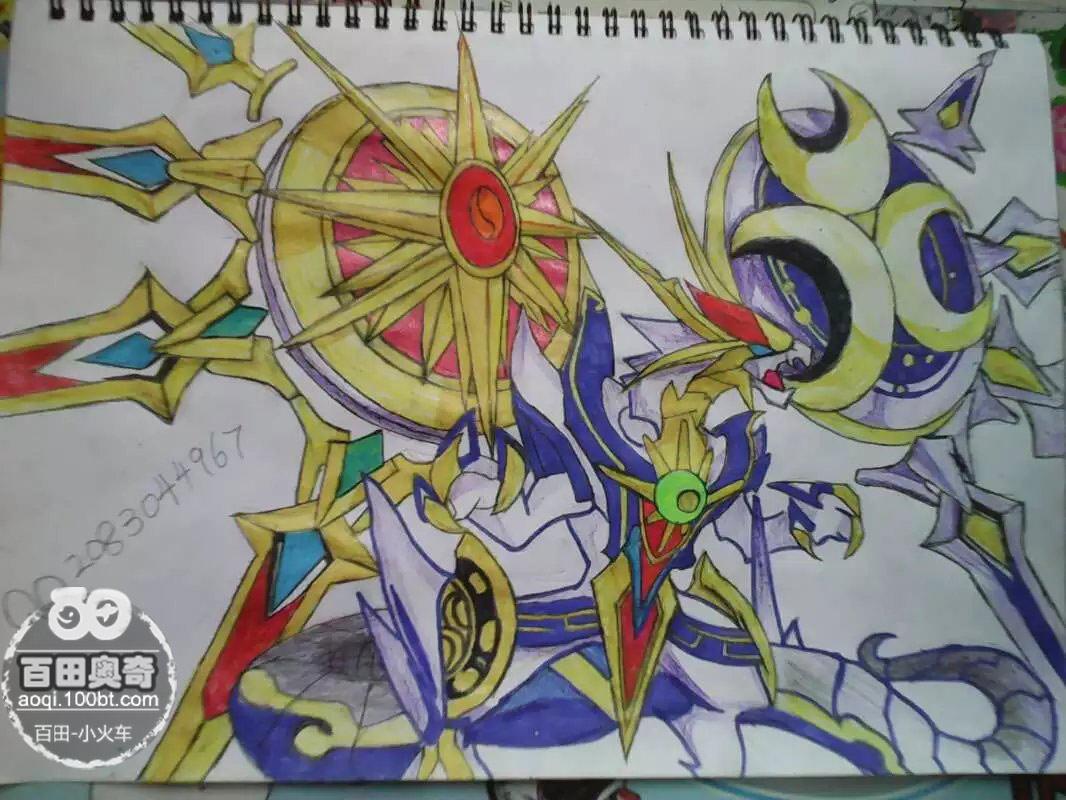 奥奇传说手绘 圣耀时空龙