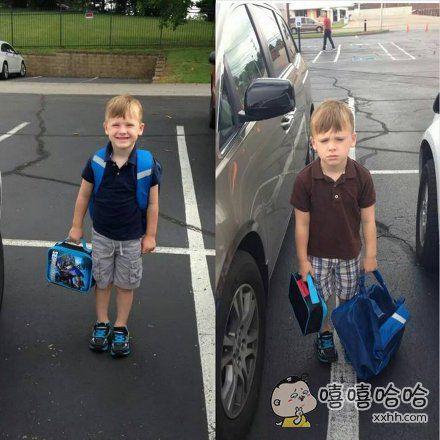 第一天上学和第二天上学