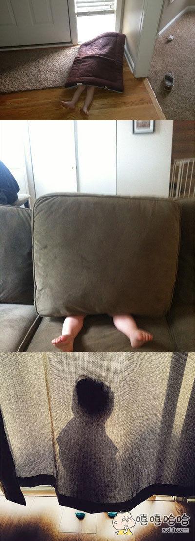 和小宝宝玩捉迷藏,你永远都猜不透他们是怎么想的