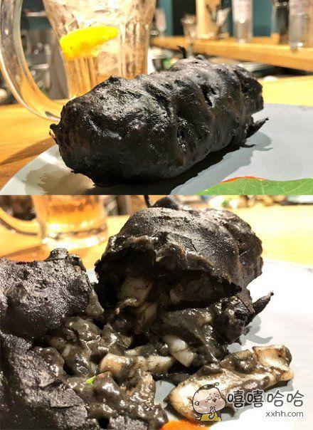 一网友分享了自己吃的炸墨鱼的图片,并说味道满分,外观零分……这你不说我还真看不出来这是炸墨鱼……