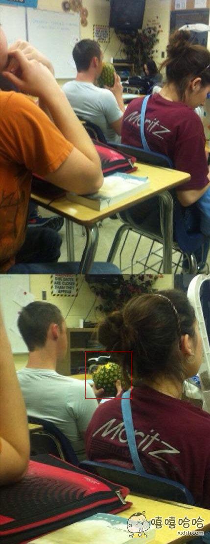 可能是我太没见过世面了吧,第一次看到有人这样吃菠萝。。。