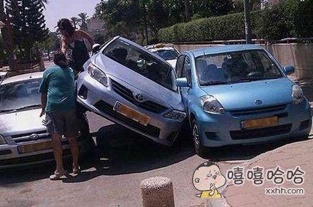 女司机停车,不忍直视