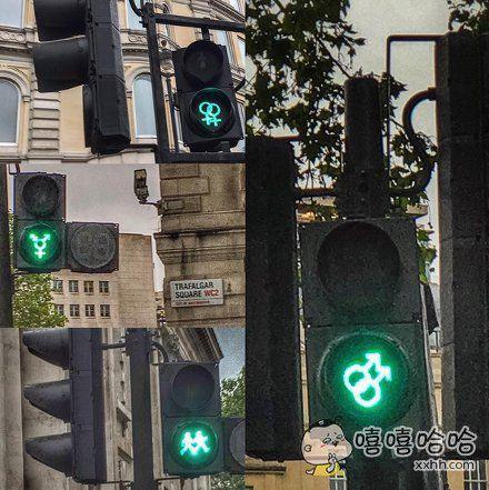 现在连红绿灯也开始秀恩爱!?还让不让人好好走路了